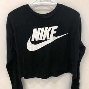 Nike cropped long sleeve top